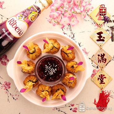 ribena share food money bag sweet sauce