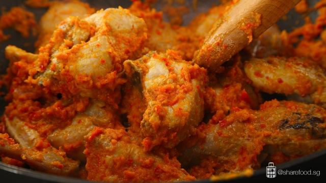 Chicken-balado-cooking-process