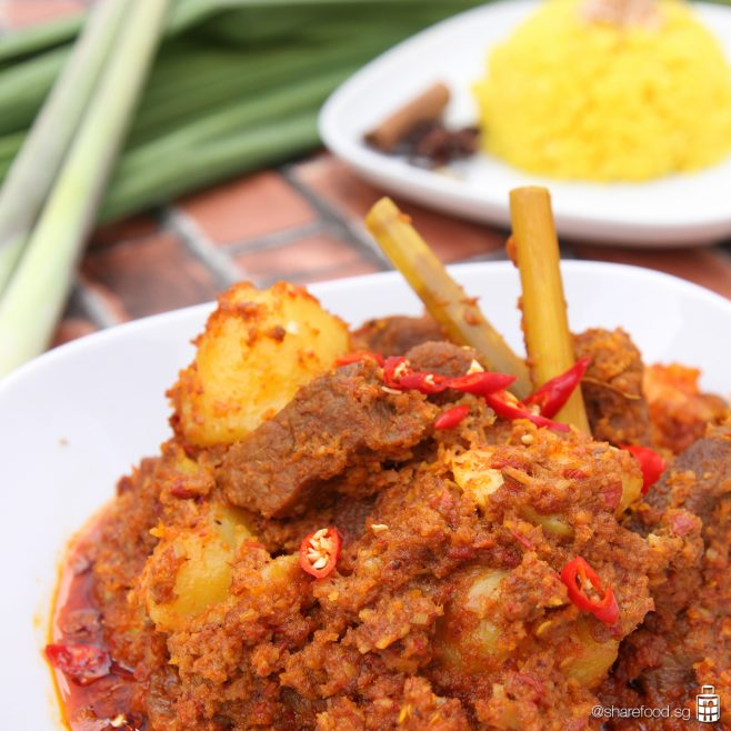 Beef Rendang close up