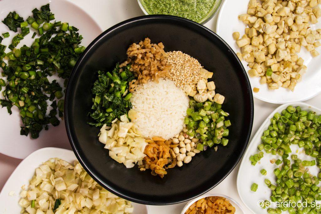 Healthy Thunder Tea Rice top down shot