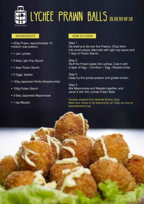 Lychee Prawn Balls recipe