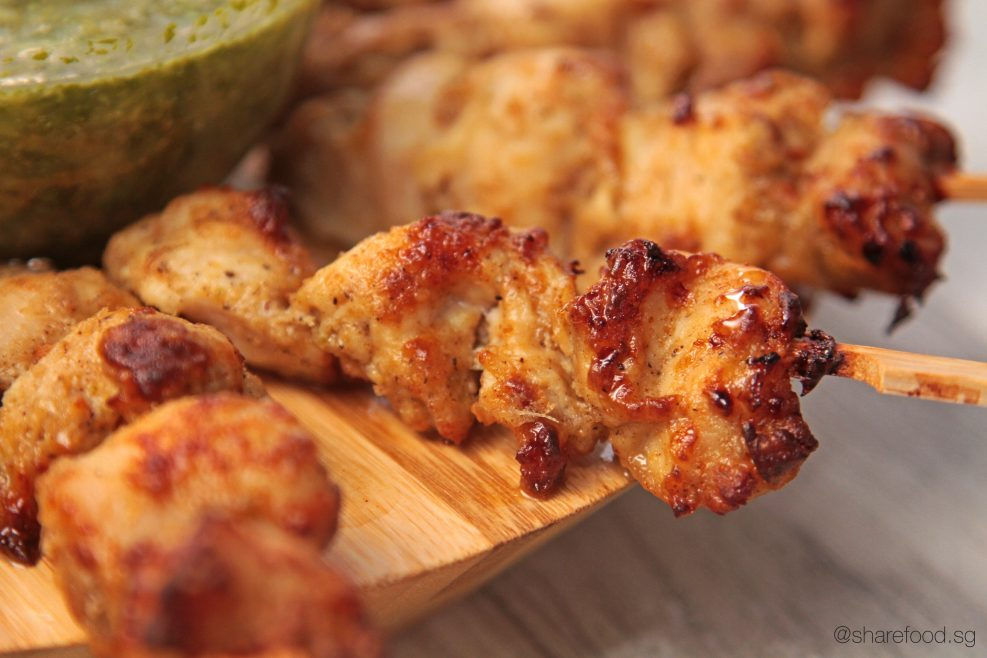 Murgh Malai Chicken Tikka close up shot