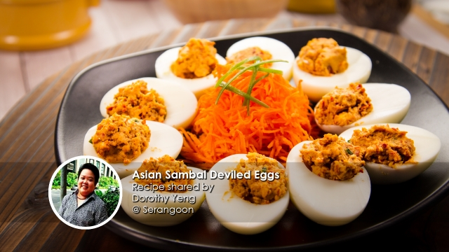 Asian Sambal Deviled Eggs home cook