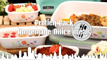 Protein pack homemade office meals