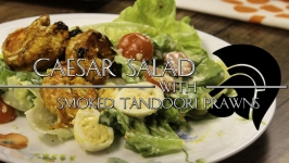 Caesar Salad with Smoked Tandoori Prawn