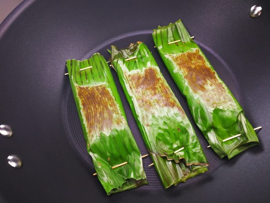 Grilling of the Nonya Otak-Otak