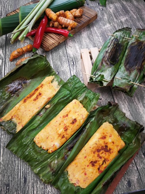 Nonya Otak-Otak close up shot