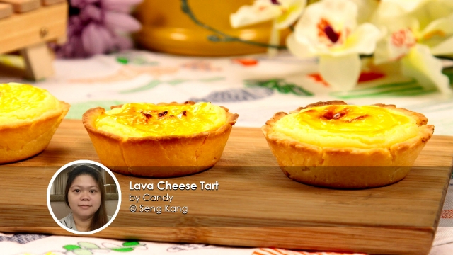 Lava Cheese Tart home cook Candy creation