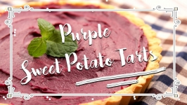 Purple Sweet Potato Tarts 紫薯挞