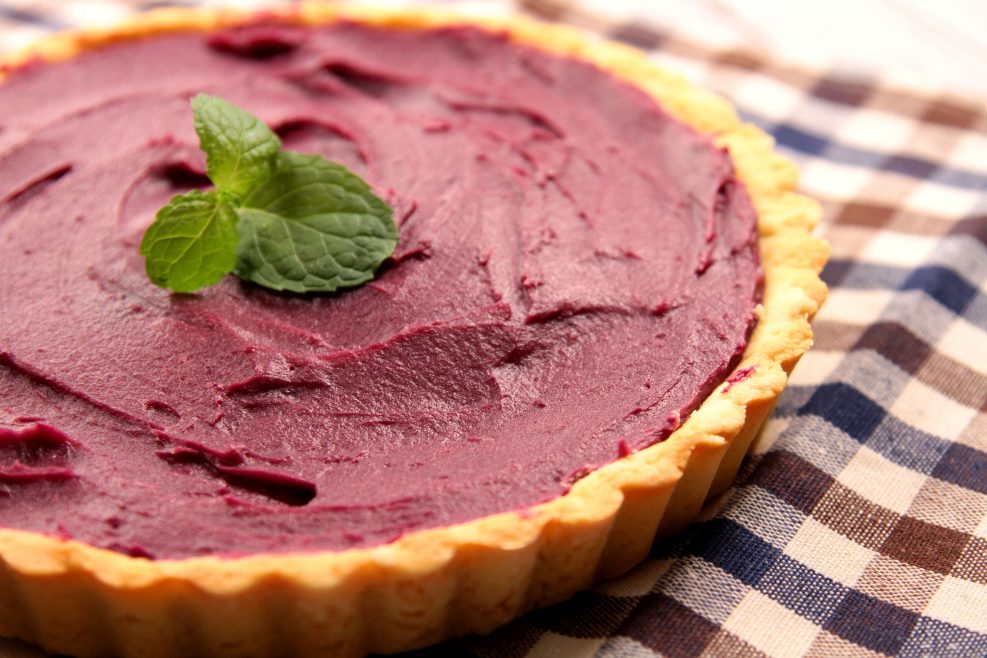 Purple Sweet Potato Tart close up shot