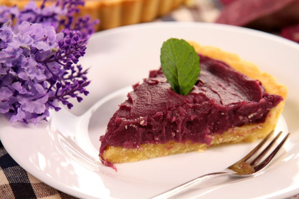 A Slice of Purple Sweet Potato Tart