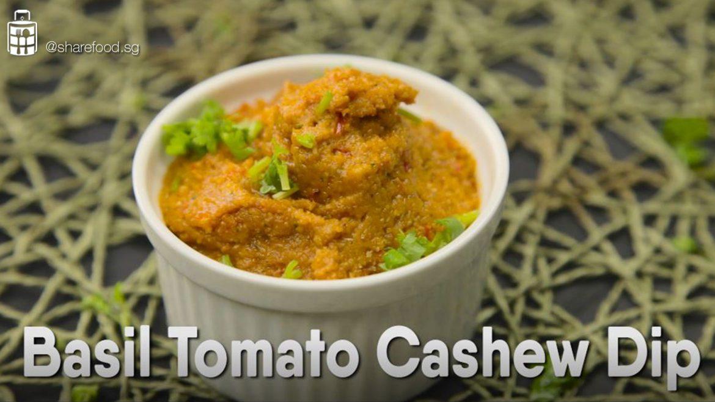 Basil Tomato Cashew Dip sauce