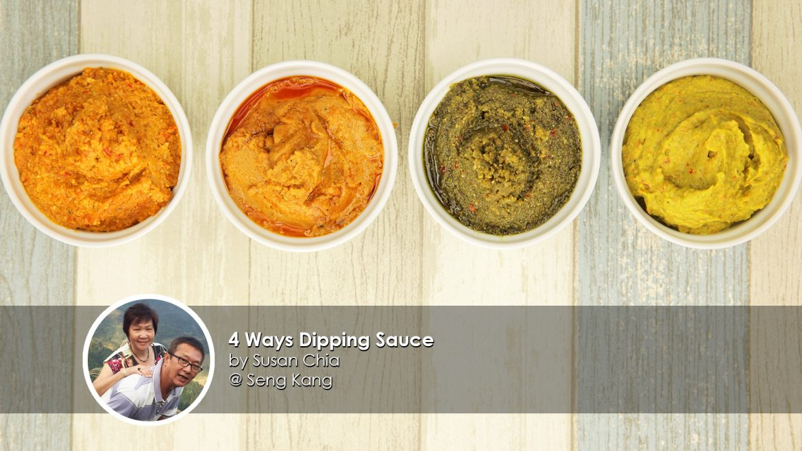 4 Ways Dipping Sauce home cook Susan Chia creation