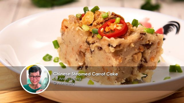 chinese steamed carrot cake home cook anne leong creation