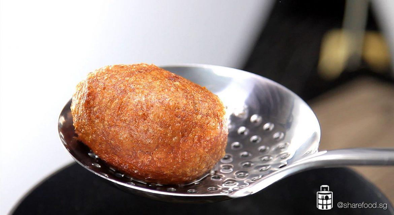 Fried Taro Ball scoop