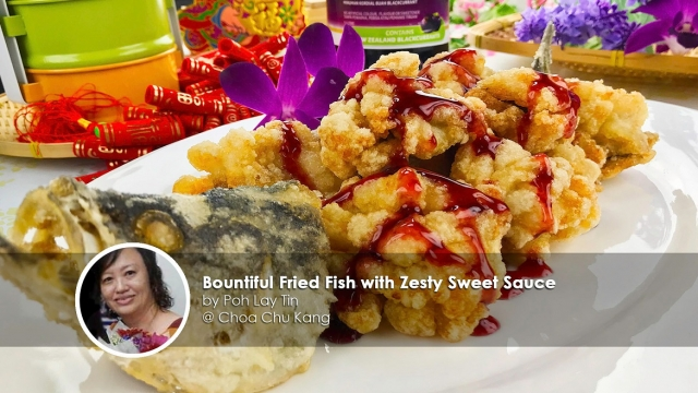 Bountiful fried fish with zesty sweet sauce home cook