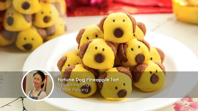 Fortune dog pineapple tart home cook jasmine ong creation
