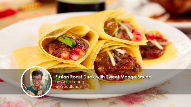 Fusion roast duck with sweet mango sauce home cook anne leong creation