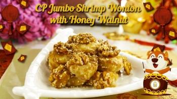 CP Jumbo Shrimp Wonton with Honey Walnut