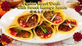 Fusion Roast Duck with Sweet Mango Sauce