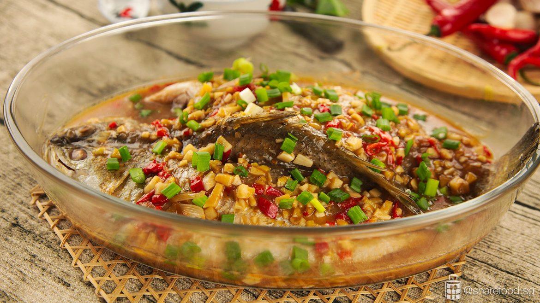 Assam Steamed Fish close up shot