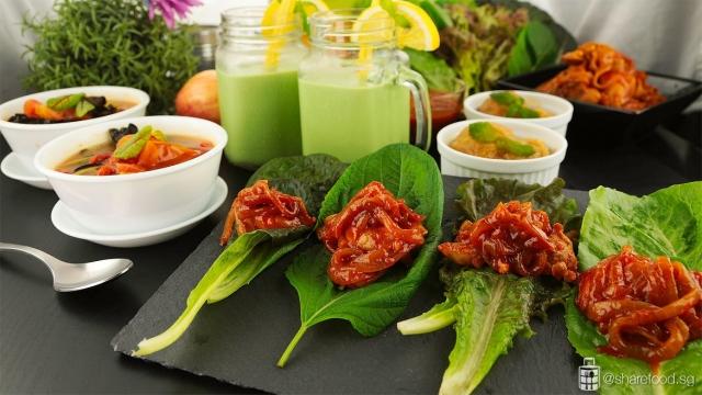 Healthy detox meal close up