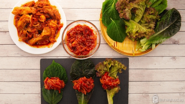 making of low carb korean lettuce wrap for healthy detox meal