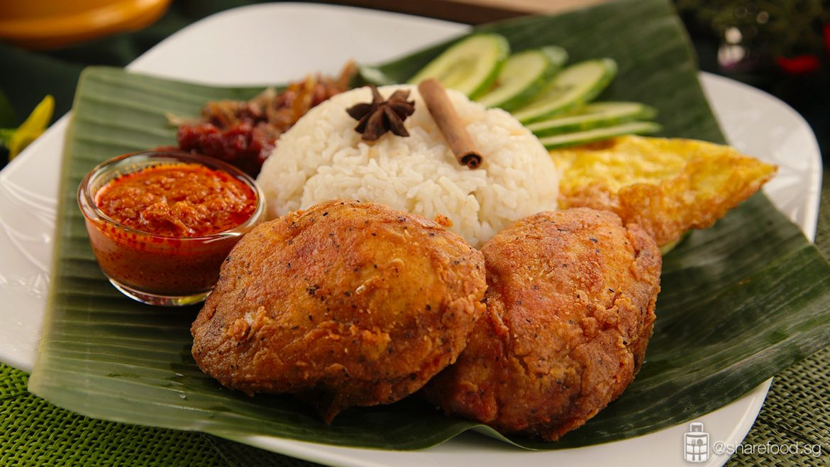 Nasi Lemak with Crispy Rendang full image