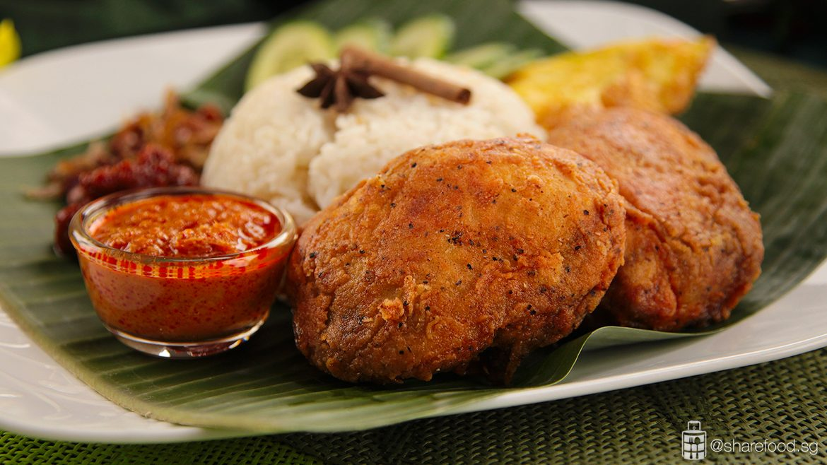 Nasi Lemak with Crispy Ayam Rendang full image 2