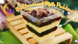 Blackcurrant Milk Pudding
