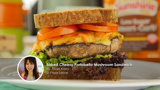 Baked-Cheesy-Portobello-Mushroom-Sandwich-Sunshine-homecook-jessie-koey