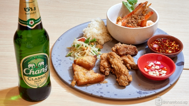 Chang Sensory Trail - Fried shrimp and pork paste toast from Baan Ying.