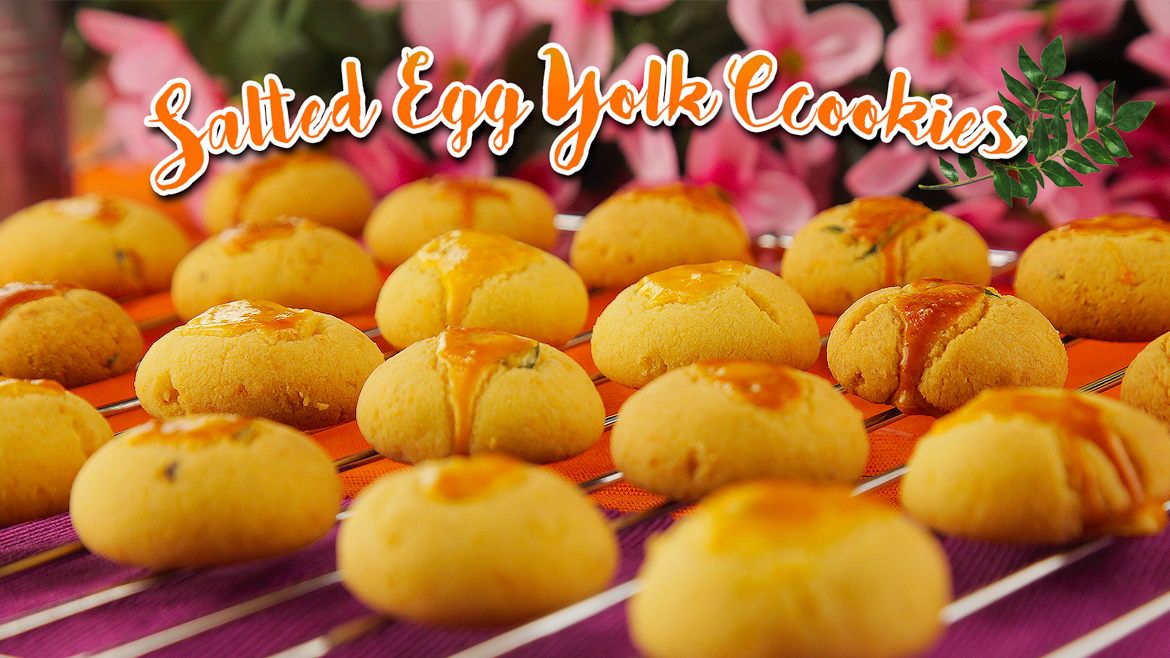 Salted Egg Yolk Cookies Featured