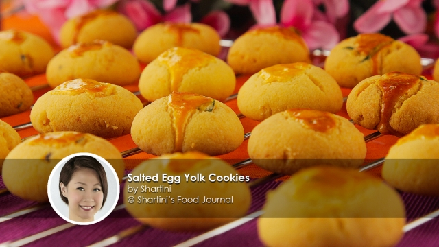 Salted Egg Yolk Cookies homecook shartini
