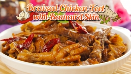 Braised Chicken Feet with Beancurd Skin