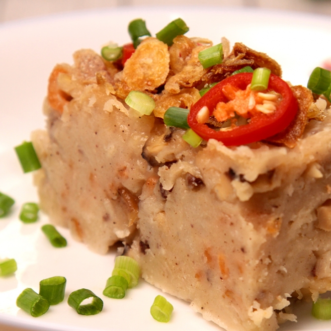 Chinese Steamed Carrot Cake Share Food Singapore