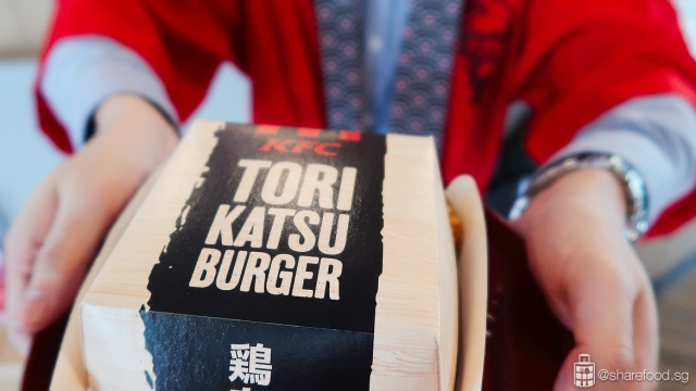 Serving KFC Tori Katsu Burger