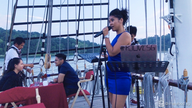 Live performance on board the Royal Albatross