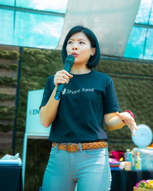 Share Food's founder Peiwen at Kranji Farmers Market