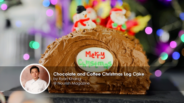 Chocolate and Coffee Christmas Log Cake Recipe By Chef Ryan Khang