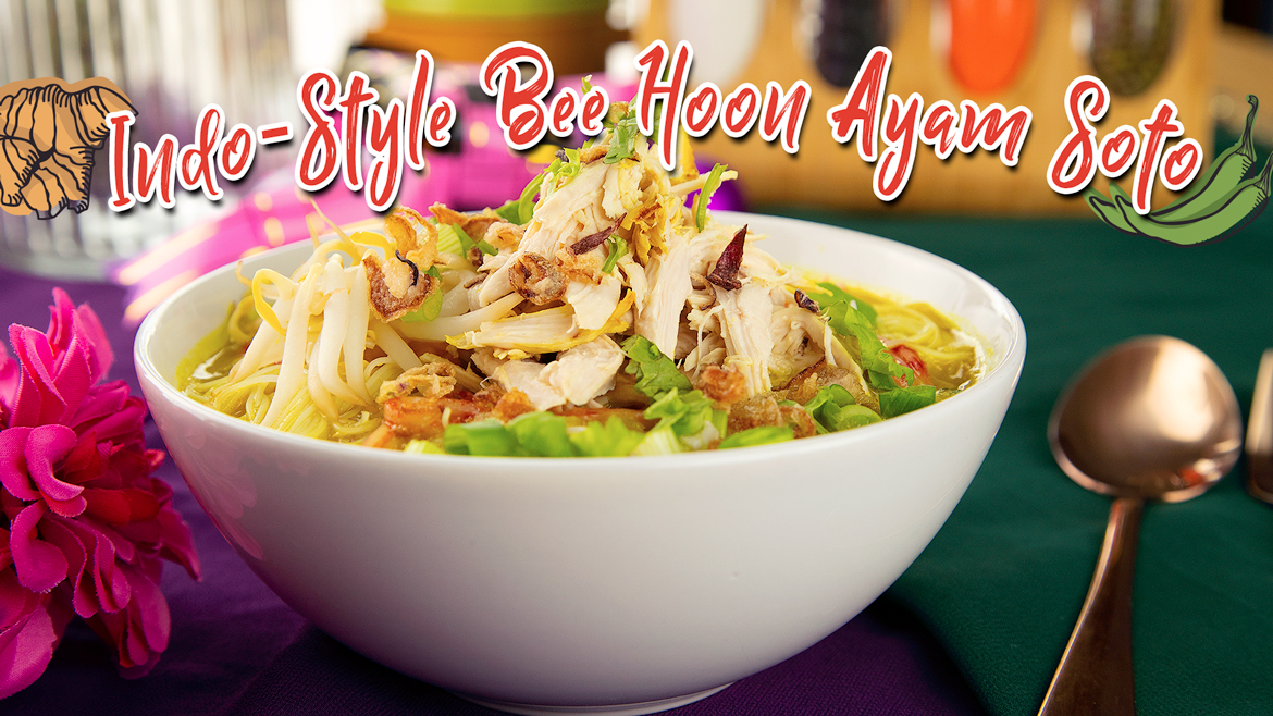Indo-Style Bee Hoon Ayam Soto Featured