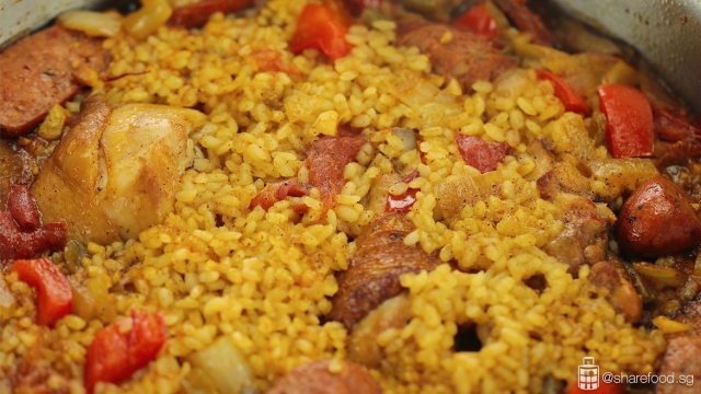 Pan Seared Chicken Paella using Japanese Short Grain Rice