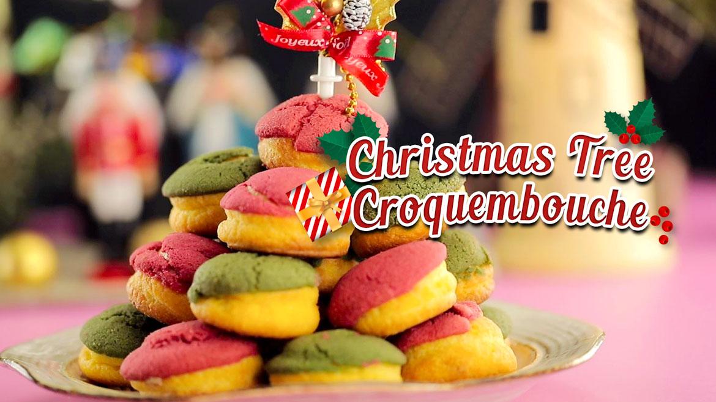Christmas Tree Croquembouche Share Food Singapore