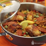 Pan Seared Chicken Paella