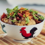 Claypot Fragrant Yam rice with Chicken Recipe