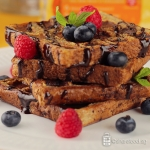 French Toast Waffle with Chocolate and Berries Recipe