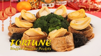 Fortune Stuffed Abalone Pockets