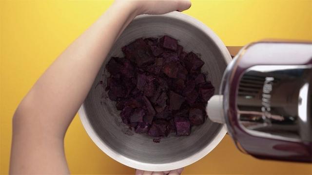 mash purple sweet potstoes