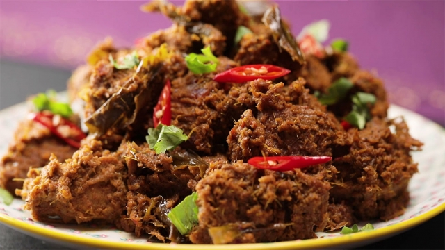 beef rendang on a plate