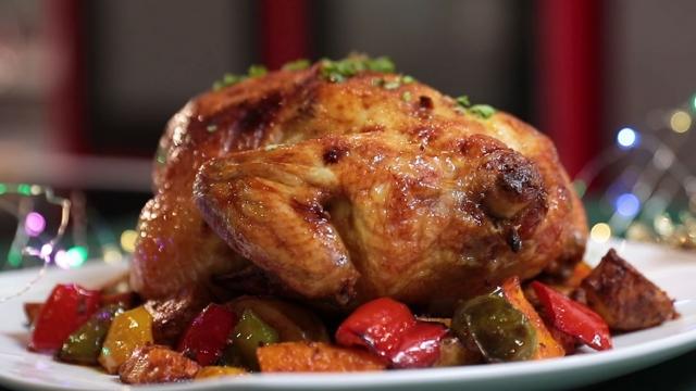 glaze roasted cyrrry chicken